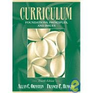 CURRICULUM:FOUNDATIONS PRINC & ISSUES