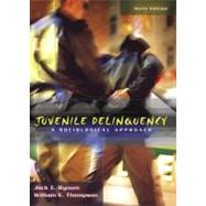 Juvenile Delinquency : A Sociological Approach