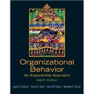 Organizational Behavior An Experiential Approach