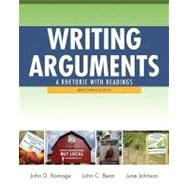 Writing Arguments : A Rhetoric with Readings, Brief Edition