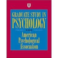 Graduate Study In Psychology 2005