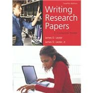 Writing Research Papers  Value Package (includes MyCompLab NEW Student Access )