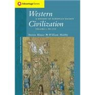 Cengage Advantage Books: Western Civilization A History of European Society, Compact Edition, Volume I