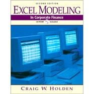 Excel Modeling and Estimation in Corporate Finance
