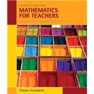 Mathematics for Teachers An Interactive Approach for Grades K-8