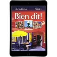 Bien dit! Level 1 Online Student Edition (1-Year Subscription)