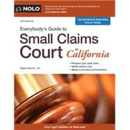 Everybody's Guide to Small Claims Court in California 9781413321722R