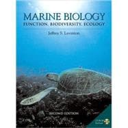 Marine Biology Function, Biodiversity, Ecology with CD-ROM