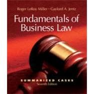 Fundamentals of Business Law : Summarized Cases