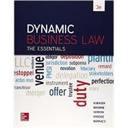 Dynamic Business Law: The Essentials with Connect