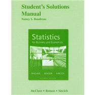 Student's Solutions Manual for Statistics for Business and Economics