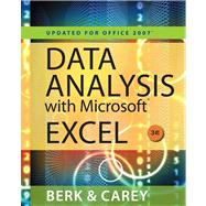 Data Analysis with Microsoft Excel� Updated for Office 2007 (Book Only)