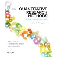 Quantitative Research Methods for Communication A Hands-On Approach