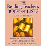 The Reading Teacher's Book of Lists , Fourth Edition