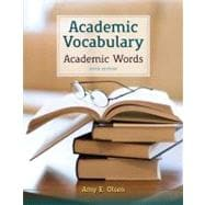 Academic Vocabulary Academic Words