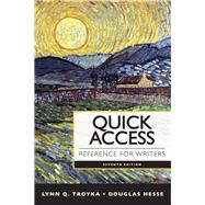 Quick Access Reference for Writers Plus Pearson eText with MyWritingLab -- Access Card package