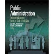 Public Administration : Understanding Management, Politics and Law in the Public Sector
