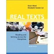 Real Texts Reading and Writing Across the Disciplines with NEW MyCompLab -- Access Card Package