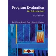 Program Evaluation An Introduction to an Evidence-Based Approach
