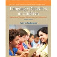 Language Disorders in Children Fundamental Concepts of Assessment and Intervention