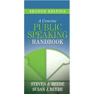 Concise Public Speaking Handbook Value Package (includes MySpeechLab CourseCompass with E-Book Student Access )