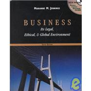 Business It�s Legal, Ethical and Global Environment with CD-ROM