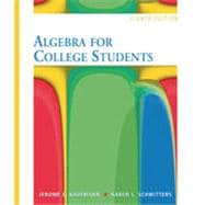 Algebra for College Students, 8th Edition