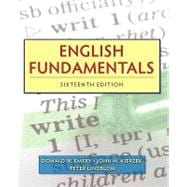 English Fundamentals (with MyWritingLab Pearson eText Student Access Code Card)