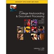 Gregg College Keyboarding & Document Processing (GDP); Microsoft Word 2007 Update, Lessons 1-120, main text