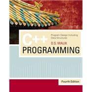 C++ Programming : Program Design Including Data Structures