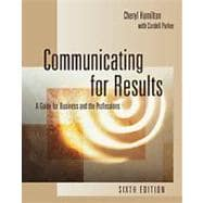 Communicating for Results A Guide for Business and the Professions (with InfoTrac)