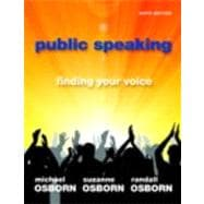 Public Speaking Finding Your Voice Plus NEW MyCommunicationLab with eText -- Access Card Package