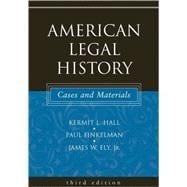 American Legal History Cases and Materials