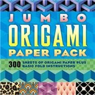 Jumbo Origami Paper Pack 300 Sheets of Origami Paper Plus Basic Fold Instructions