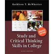 Study and Critical Thinking Skills in College, Update Edition