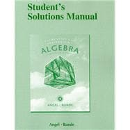 Student's Solutions Manual for Elementary and Intermediate Algebra for College Students
