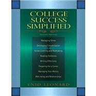 College Success Simplified Value Package (includes Pearson Student Planner)