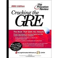 Cracking the GRE with Sample Tests on CD-ROM, 2003 Edition