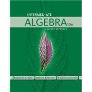 Intermediate Algebra A Guided Approach