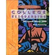 College Keyboard: Microsoft Word 2000 (Book with Diskette)