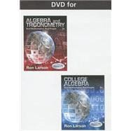 DVD for Larson's Algebra and Trigonometry: Real Mathematics, Real People, 7th