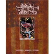 American Government and Politics Today With Infotrac (Book with CD-ROM)