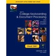 Gregg College Keyboarding and Document Processing Microsoft Office Word 2007 Update : Kit 1: Lessons 1-60