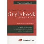 AP Associated Press Stylebook 2009: And Briefing on Media Law