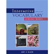 Interactive Vocabulary : General Words