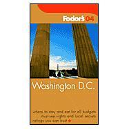 Fodor's Washington D.C. 2004
