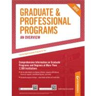 Graduate and Professional Programs: an Overview 2012 (Grad 1)