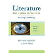 Literature: The Human Experience Shorter Edition Reading and Writing