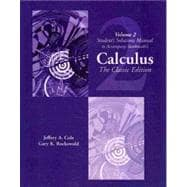 Student Solutions Manual, Vol. 2 for Swokowski's Calculus
