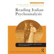 Reading Italian Psychoanalysis 9781138932869R
